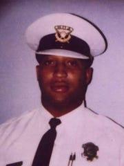 A 2001 photo of Cincinnati Police officer Freddie Vincent