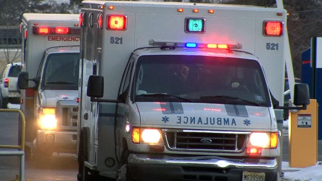 Six people, including three children, were hospitalized after a head-on crash.