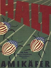 German educational and propaganda posters warned about the kartoffelkäfer — potato beetle — and tried to pin the invasion on Americans.