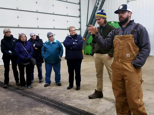 From right: Hop Head Farms management Brent Christensen