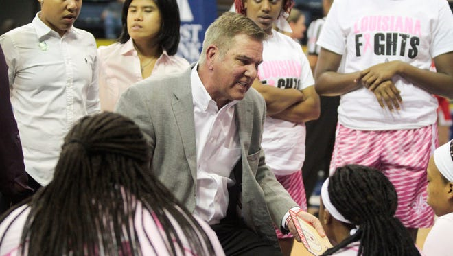 UL coach Garry Brodhead even wore pink during the Sun Belt Conference Tournament last season.