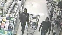 Police are seeking the public's help in identifying these two men for their alleged shoplifting in a local Walmart.