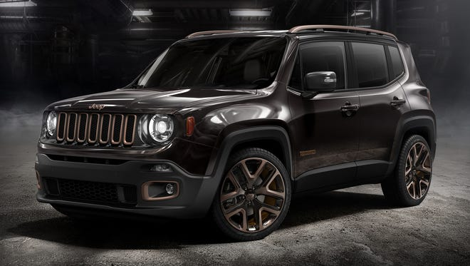 The upscale  Zi You Xia design concept concept of the 2015 Jeep Renegade subcompact SUV that was unveiled at the recent Beijing Motor Show.