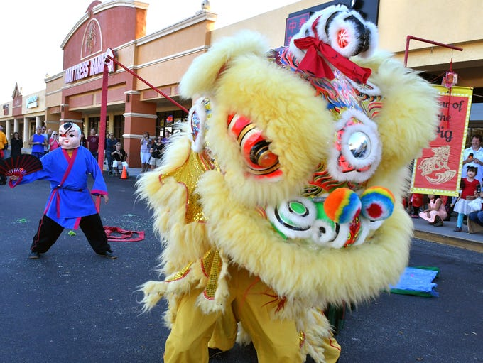 The Chinese New Year was celebrated at at several locations