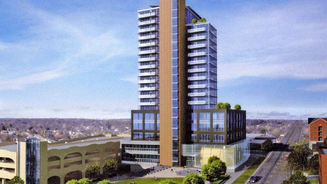 Artist's rendering of The Chauncey. Special to the P-C The Chauncey LLC Proposal
