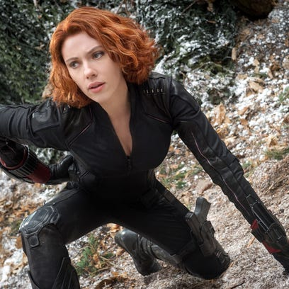 "Black Widow/Natasha Romanoff (Scarlett Johansson) in a scene from the motion picture ""The Avengers: Age of Ultron."""