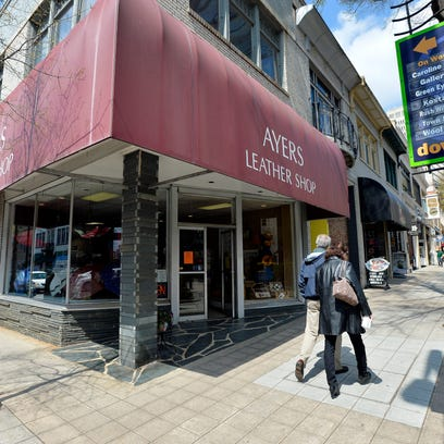 The renderings of renovations to Ayers Leather Shop — key among the reworking of awnings — are similar to ones filed last summer, before the plans were pulled just as legal action began.