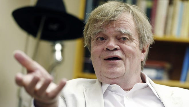 "Garrison Keillor, creator and host of ""A Prairie Home Companion,"" appears during an interview in 2015 in St. Paul. Keillor says he has suffered a brain seizure but that this week's show apparently will go on."