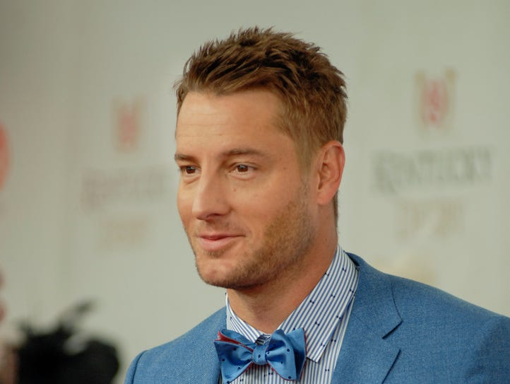 Justin Hartley on the Red Carpet at the 143rd Kentucky