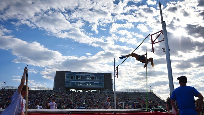 Watertown's Summer Scott participates in the Dakota Relays Friday, May 4, at Howard Wood Field in Sioux Falls.