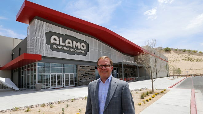 Neil Billingsley-Michaelsen, CEO of Triple Tap Ventures, owner of the El Paso franchise for the Alamo Drafthouse Cinema, stands outside Alamo's first El Paso location in the Montecillo Smart Growth Community on the West Side. Triple Tap plans to put another Alamo at Pellicano Drive and Joe Battle Boulevard on the East Side.