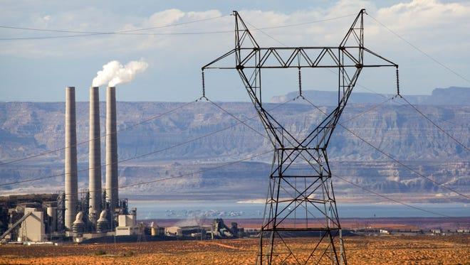 A coal-powered Navajo Generating Station