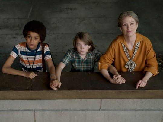 Jamie (Jaden Michael, left), Ben (Oakes Fegley) and