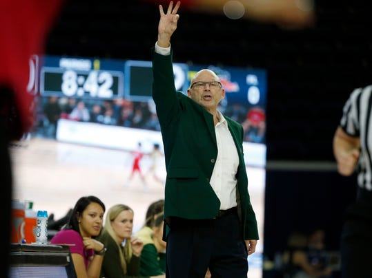 UAB head coach Randy Norton directs his team as they played Western Kentucky during the first half of an NCAA college basketball game in the Conference USA Women's Basketball Championship in Frisco, Texas, Saturday, March 10, 2018. (AP Photo/Michael Ainsworth)