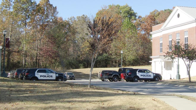 The Fairview Police Department parking lot was full of patrol vehicles as the city ordered a full shutdown on Wednesday and Thursday to assess all department employees.