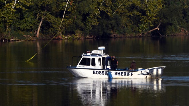 Bossier City search for a person who may have fallen in the Red River after an accident on the Shreveport-Barksdale bridge.