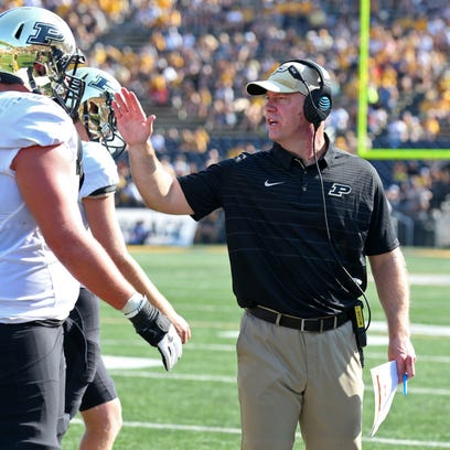 Under first-year Purdue coach Jeff Brohm, the Boilermakers