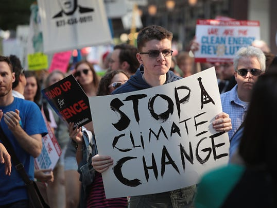 Environmental Activists In Chicago Protest Paris Climate Accord Decision