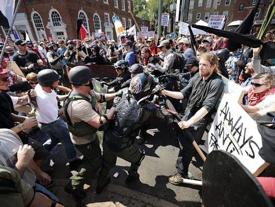 """Violent Clashes Erupt at """"Unite The Right"""" Rally In Charlottesville"""