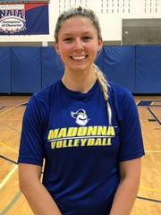 One of the top performers for Madonna's volleyball