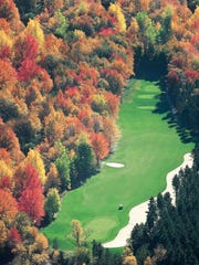 The 15th hole at Crystal Mountain Ridge in Thompsonville, Mich.