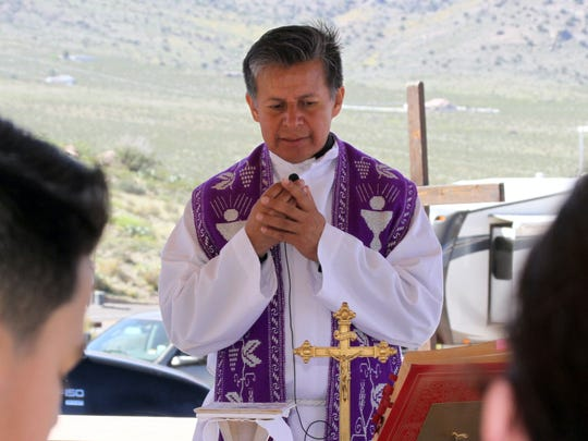 Fr. Manuel Ibarra will celebrate Mass following Saturday's Youth Lenten Walk at the Rockhound State Park group shelter.