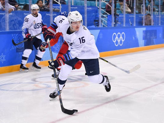 USP OLYMPICS: ICE HOCKEY-MEN TEAM QUARTERFINAL - U S OLY KOR