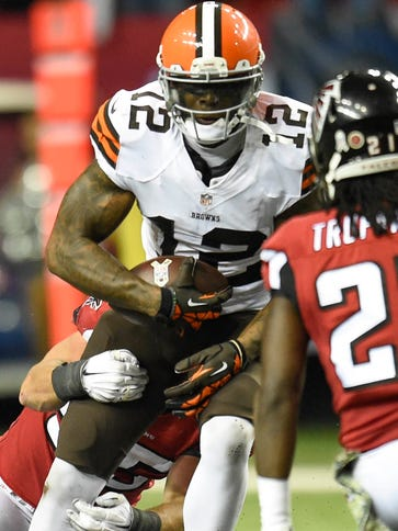 Browns WR Josh Gordon had 120 receiving yards in his