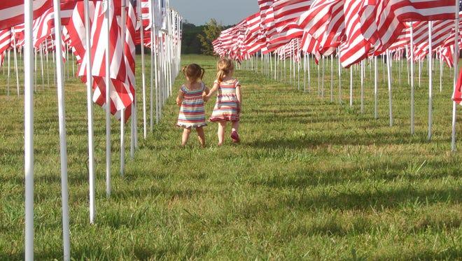 Children explore a past Healing Field in Murfreesboro.