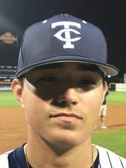 Carroll pitcher and infielder Jared Cruz