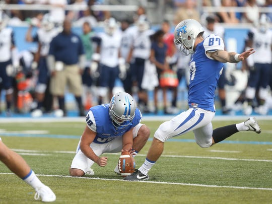 Photos from the NCAA college football game between MTSU and Jackson State, on Saturday, Sept. 5, 2014. Final score MTSU 70-14.