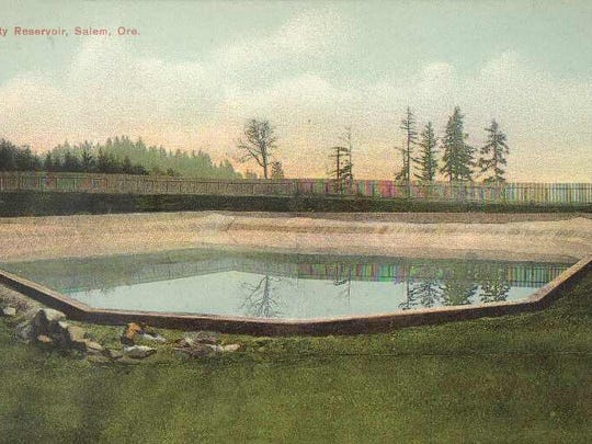 Water was pumped into this reservoir on Fairmount Hill from the Willamette.