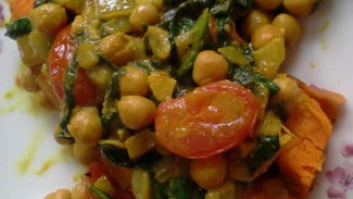 Curried chick pea stew.
