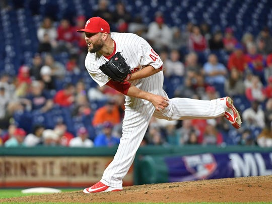 Philadelphia Phillies relief pitcher Tommy Hunter