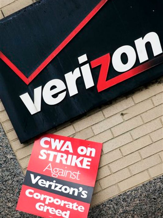 A contract covering 39,000 Verizon workers represented by two unions expires at the end of Saturday, Aug. 1.