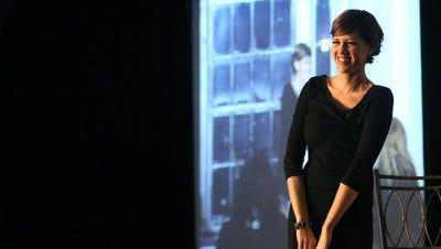Jill Conley speaks at a Norton Healthcare event.