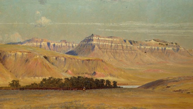 Powder River, by Frank Reaugh, 1915, oil on canvas