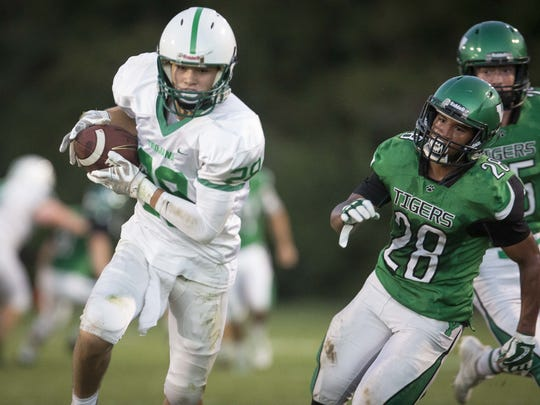 New Castle's Luke Bumbalough (left) has put up video-game like numbers this season.
