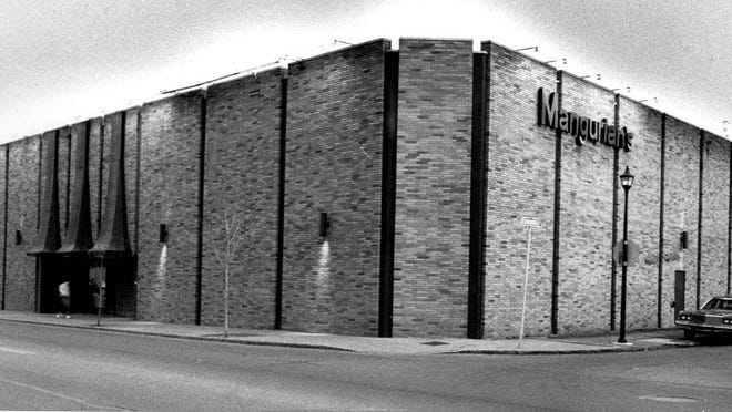 The enormous Monroe Avenue location of Mangurian's furniture store closed in 1988.