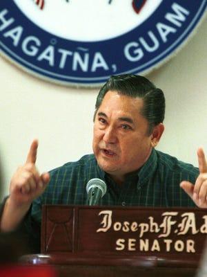 Former Gov. Joseph Ada, shown in a file photo as a senator.