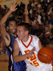 Palm Desert's Justin Sobczyk looks to make a move against Cathedral City in this file photo. Sobczyk was hired this month as the head coach at Cathedral City.