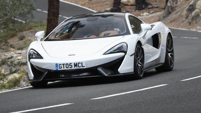 The McLaren 570GT is on eof the cars that will make a U.S. debut in Monterey