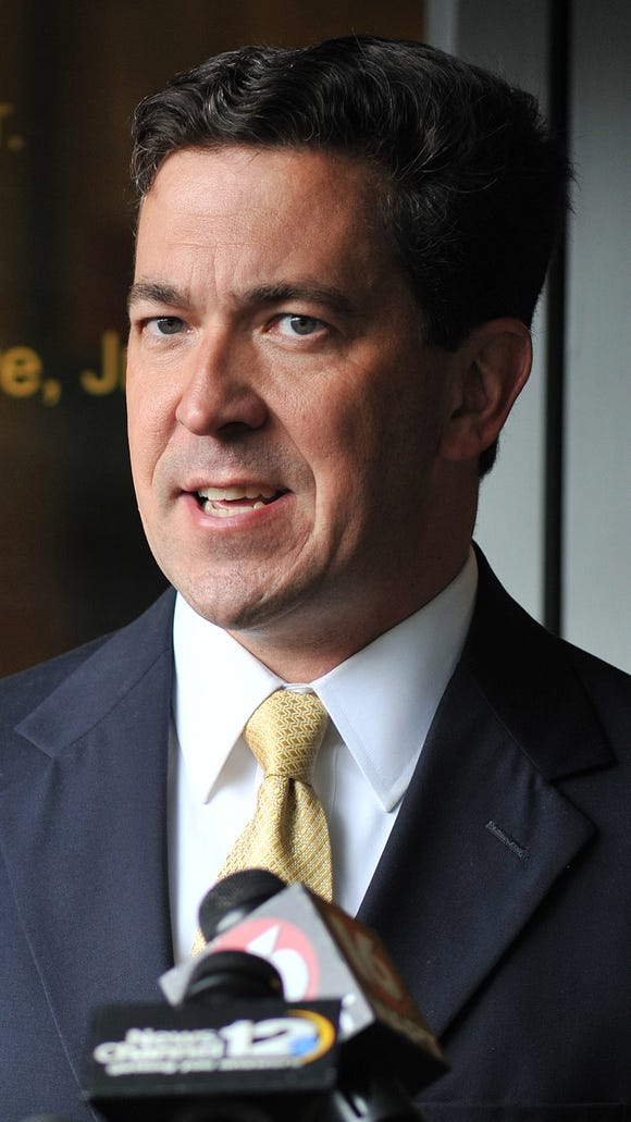 Chris McDaniel talks about his election challenge during a press conference at the Tyner Law Firm in Jackson.