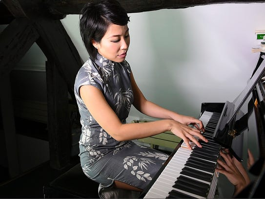 Pianist Jenny Q. Chai in September 2017 in Paris, She