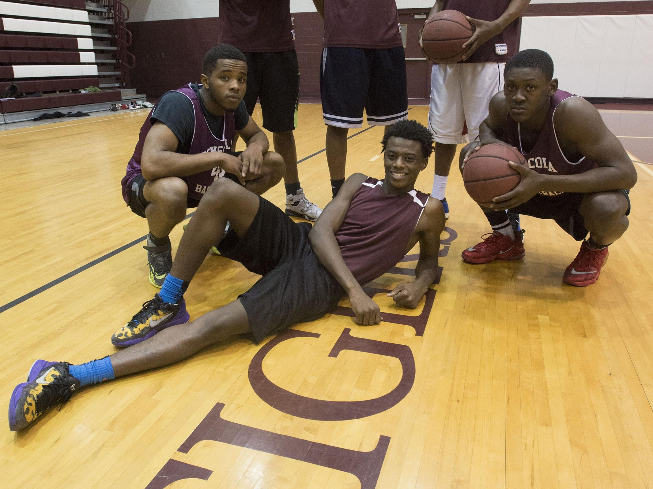 Left to Right: Devin Gadson, Javon Grimsley, Bryan Davonchae Shawndarius Cowart, Robert Reeves, and Zykereyan Jones, will be leading the Pensacola High School team to the semifinals in Lakeland this weekend.
