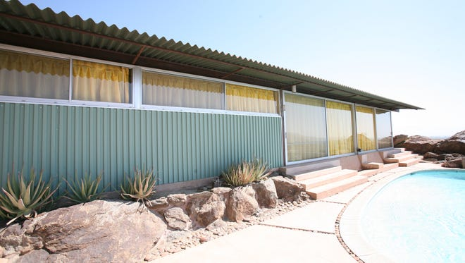 The exterior of the Frey House II is photographed on Tuesday, August 18, 2009. The home was designed by architect Albert Frey for personal use and was built from 1963-64.