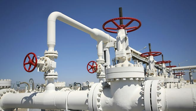 These leaks in natural gas infrastructure emit smog precursors.