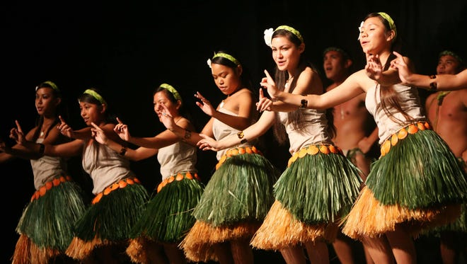 In this file photo, Inetnon Gef Pa'go performs during the 9th Annual Dinana Minagof Chamorro Dance Competition and Festival .