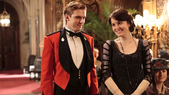 Dan Stevens as Matthew Crawley and Michelle Dockery as Lady Mary