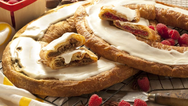 O&H Danish Bakery offers raspberry and pecan flavors of kringles, among many others.